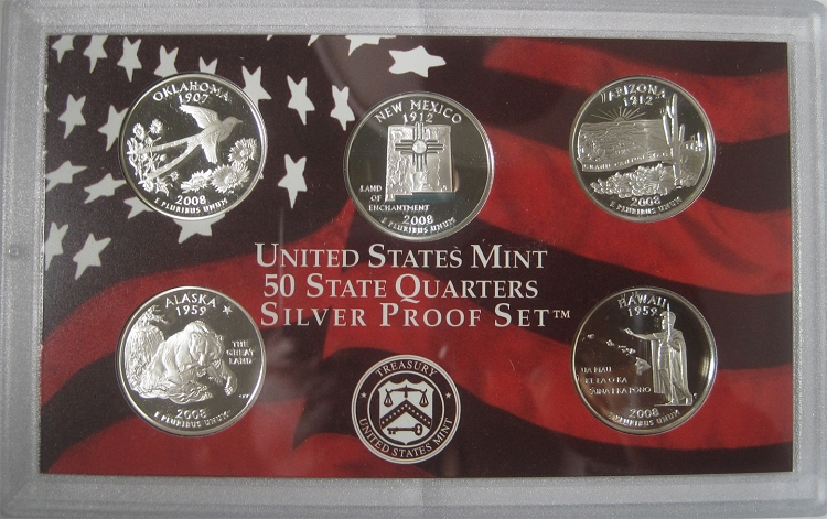 50 State Quarters Silver Proof Set. 2005 S  United States Mint