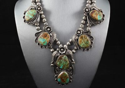 Delbert-J-Clark-Sterling-Royston-Turquoise-Squash-Blossom-Necklace-1-1