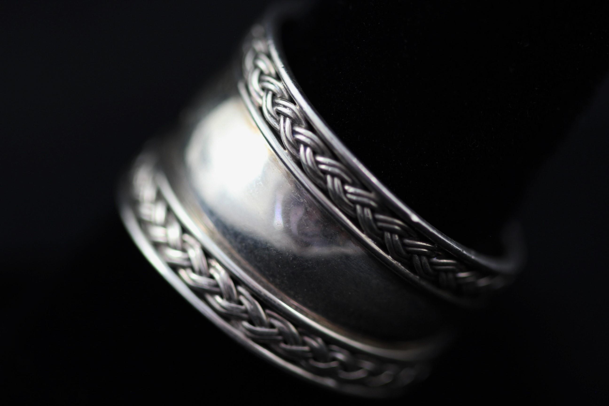 Estate QVC – BA Suarti Sterling Silver Woven Braid Cigar Band Ring