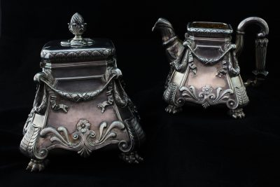 Russian Silver Creamer and Sugar Set- Details (8)-3