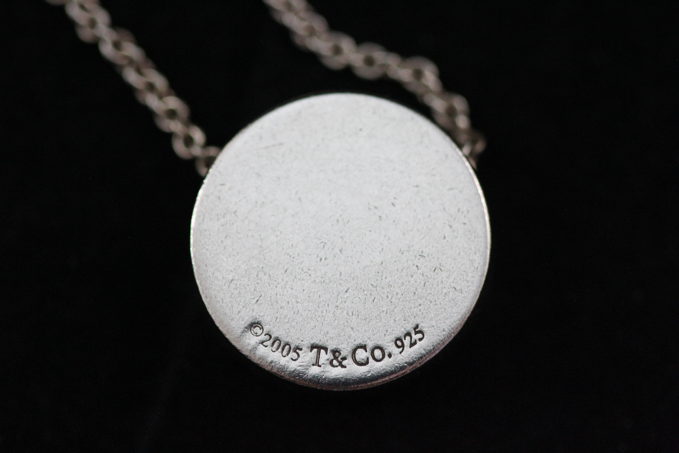 Authentic retired tiffany co 1837 sterling silver concave product information authentic retired tiffany co 1837 sterling silver concave circle slide pendant necklace audiocablefo Light gallery