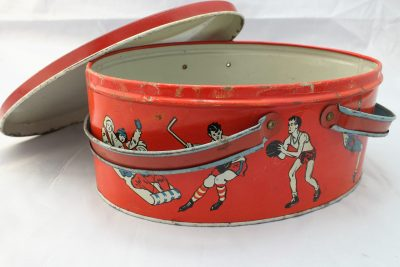 Vintage Childs Metal Sports Lunch Box - Feature-8