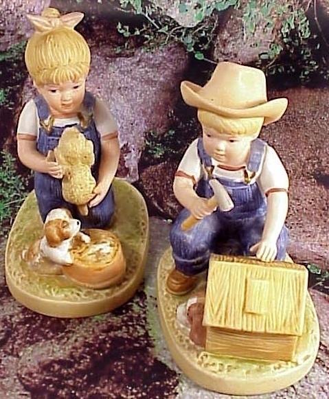 Denim Days Figurines by Homco  1985