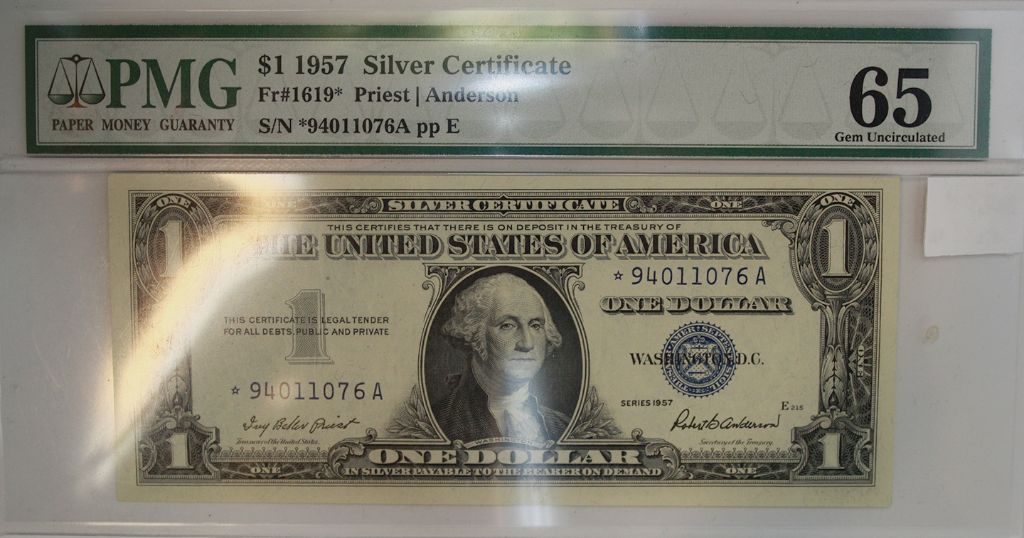 1957 Silver Certificate Value Image Collections Creative